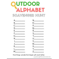 Complete the outdoor alphaber