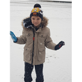 Callum enjoying the snow!