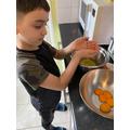 Benjamin's cake preparation