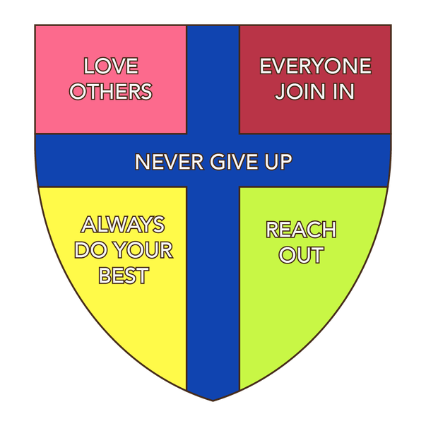 Never give up designed by Hugh F