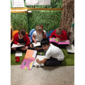 Independent reading in the Resource Area