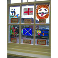 Our 'stained glass' Saints days in the hall