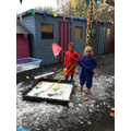 November: Waterplay- catching letters!
