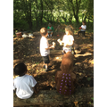 Sep: 'The Gruffalo' story in the Forest School are
