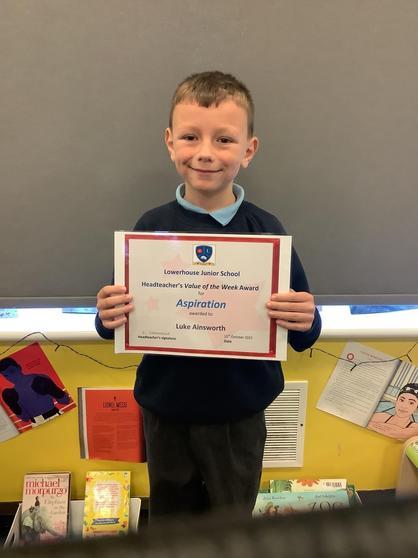 The Head Teacher Award for Aspiration - Luke.
