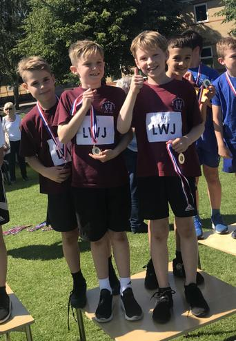 The Year 4 boys relay team wins gold