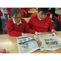We looked at newspaper contents and layout