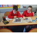 We wrote our own newspaper articles