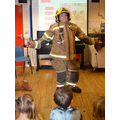 Learning about a Fire Fighter's uniform...
