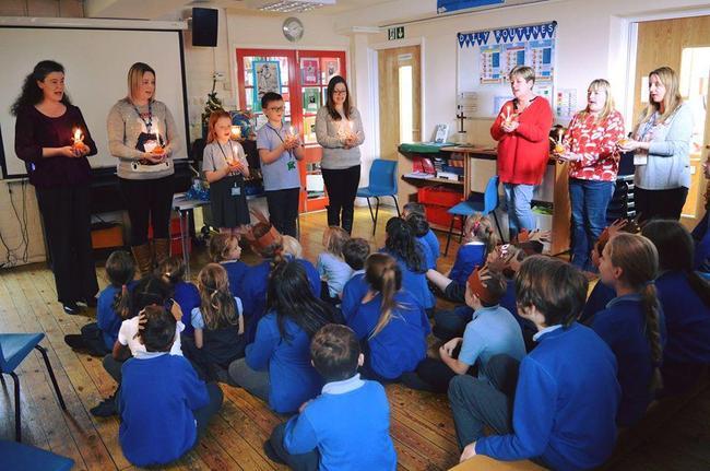 Child-led Christingle Service in school