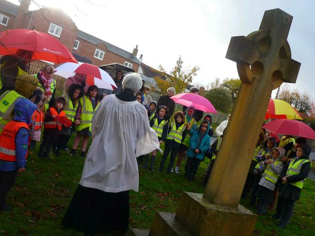 WWI Centenary at the village war memorial