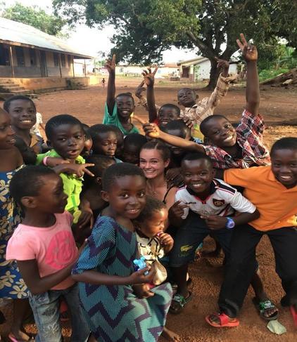 Miss Dickens in Ghana