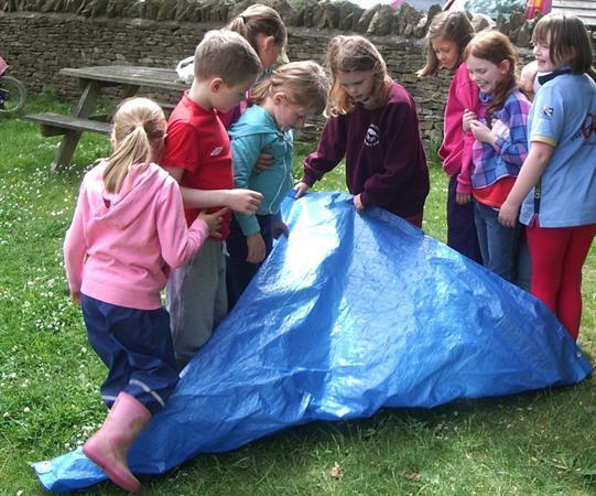 A teamwork challenge.