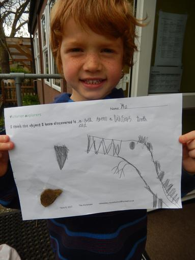 Creative thinking; not a stone, a dinosaur tooth!