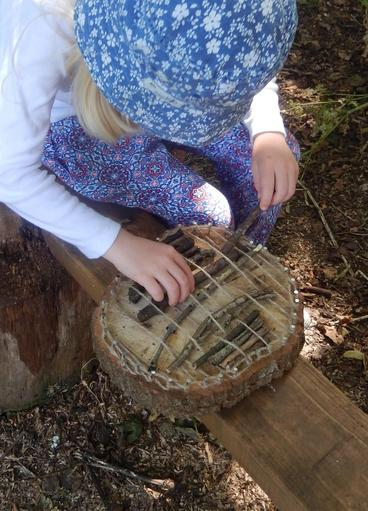 'Wild Weaving'; using the local natural resources