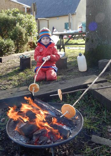 Pancake Day campfire cooking!