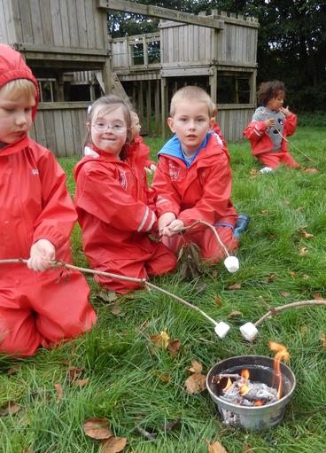 then toasting marshmallows; a sweet treat!