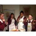 Year 6 baked cakes for guests at the harvest tea