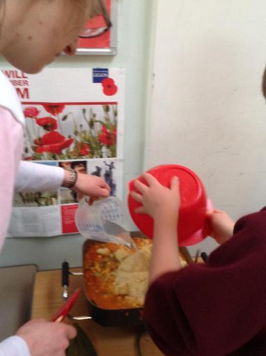 adding the couscous