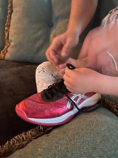 Shoelace practice!