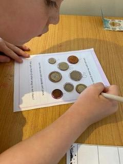 Working out coin values