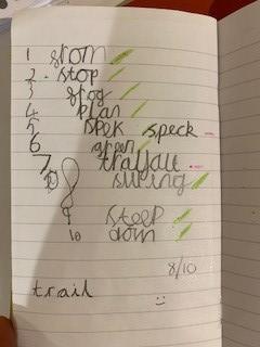 8/10 on last week's spellings!