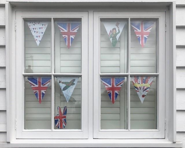 VE Day Bunting ready for 8th May!