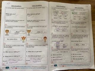 Work on using questions