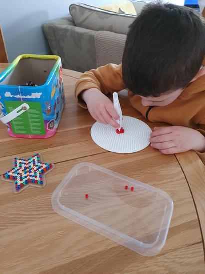 Using Hama beads