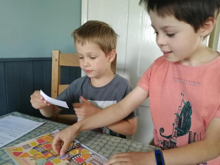Enjoying the Great Fire of London board game!