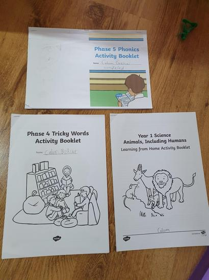 Completed activity packs