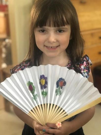 A beautifully decorated fan