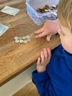 """Counting in 10s for paying for """"tuck shop"""" treats!"""