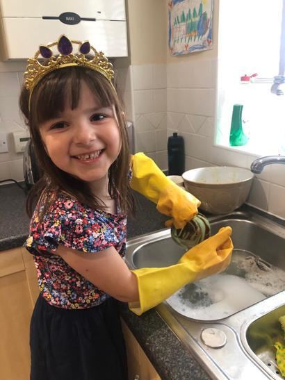 Washing up!