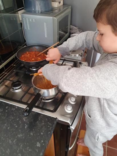 Spaghetti bolognese on the go!