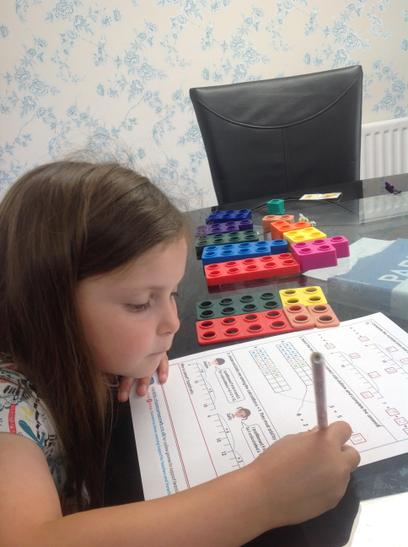 Using Numicon for maths!