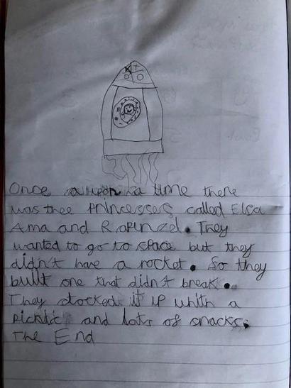 A short story about princesses who built a rocket!