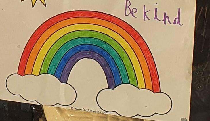 Rainbows in the window