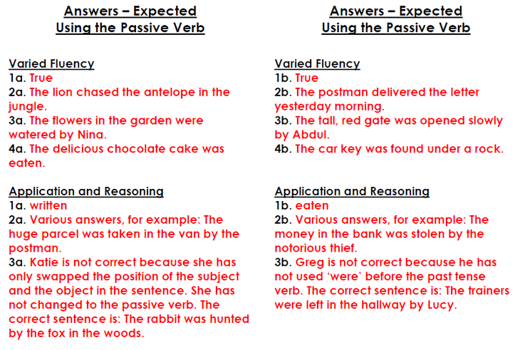 Friday Eng -Using the Passive Verb Expected ans