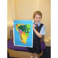 Freya made a fantastic map of South America