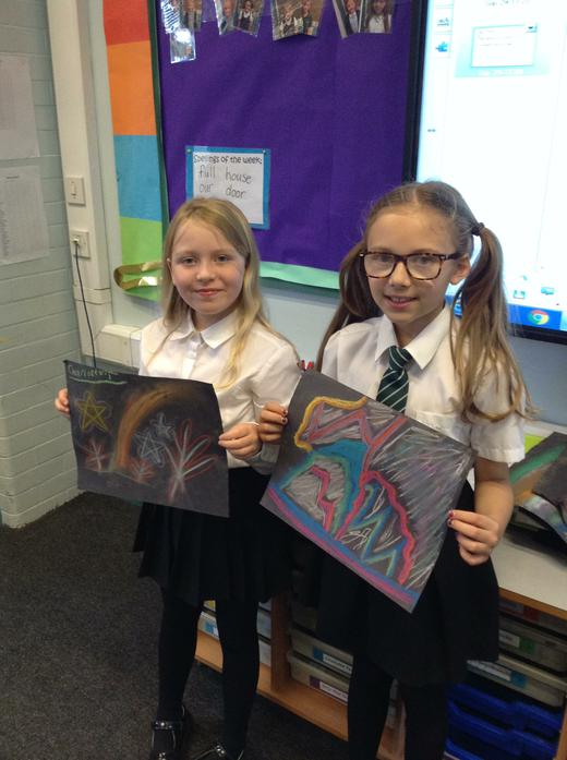 We learnt about the Northern Lights & made our own