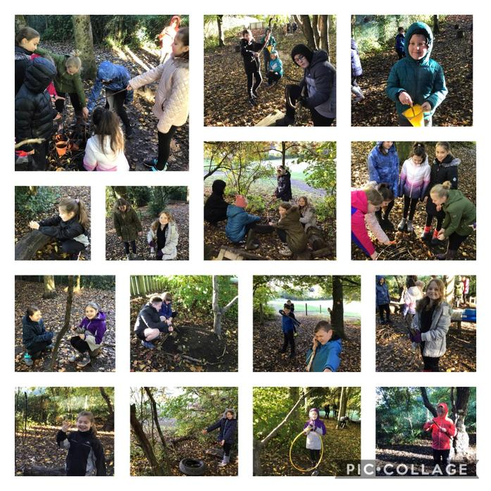 """We brought our learning to """"life in the forest. Ask us to find out more!"""
