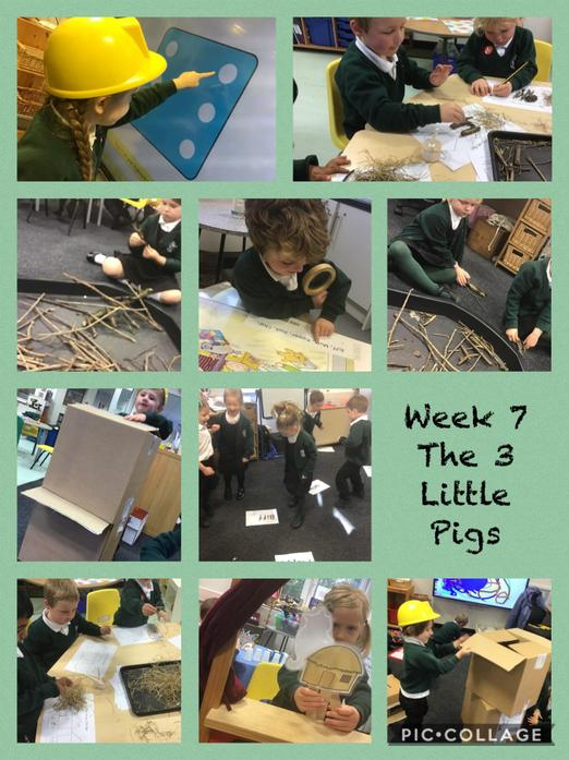 We huffed and puffed all week learning about which material was best for house building!