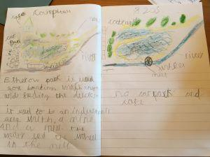Isabella drew a detailed map of Etherow