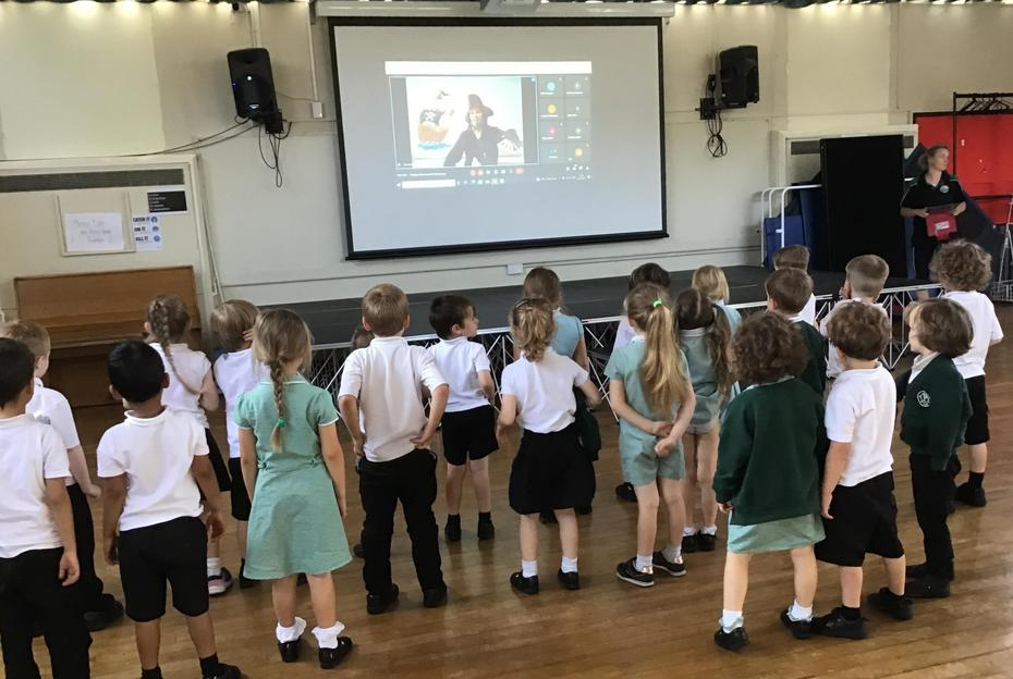 Reception enjoyed an afternoon of pirate songs as part of the Stockport Music Project