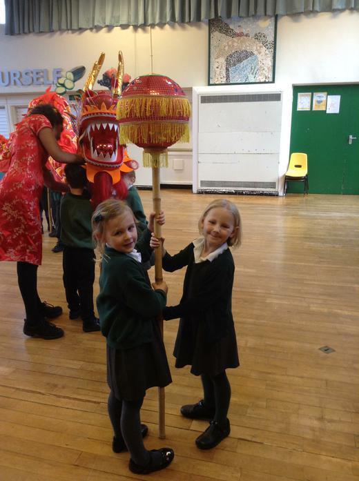 Lots of muscles required - the dragon was heavy!