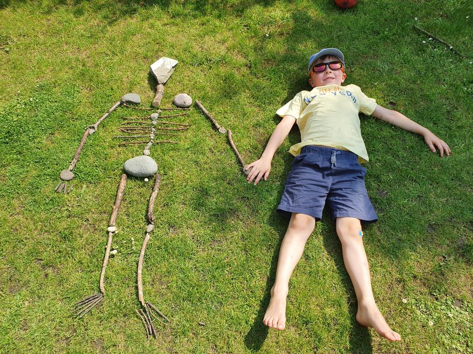 A life-size nature skeleton, well done, Ben!