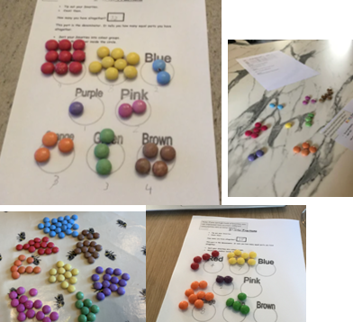 Year 5 have been using Smarties to do a fractions investigation from home!