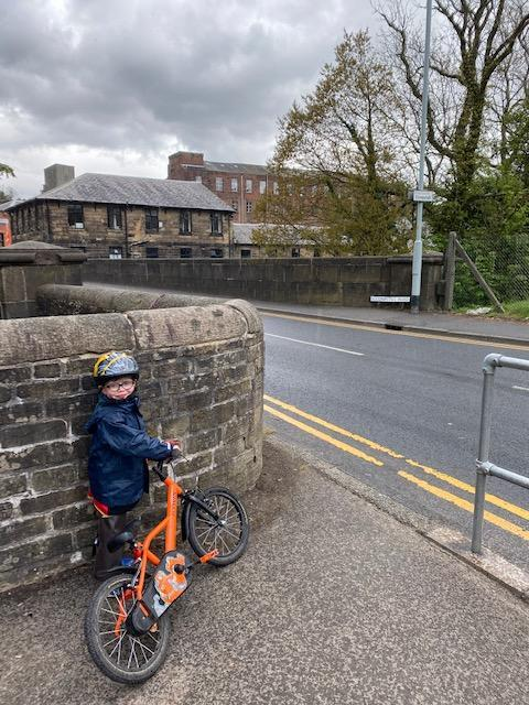 Alex got on his bike to investigate Andrew's mill