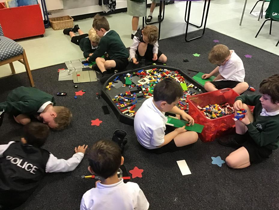 Creating with our treasure (Lego)